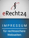 Wir haben das eRecht24-Siegel