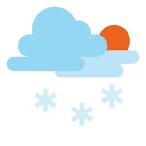 Schneeschild für Rasenmähertraktor